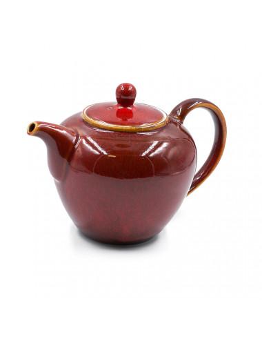 Teiera rossa in tonalità chiaro-scure - La Pianta del Tè acquista on line