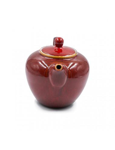 Victoria teiera in porcellana con manico ad ansa e coperchio con pomello - La Pianta del Tè vendita on line