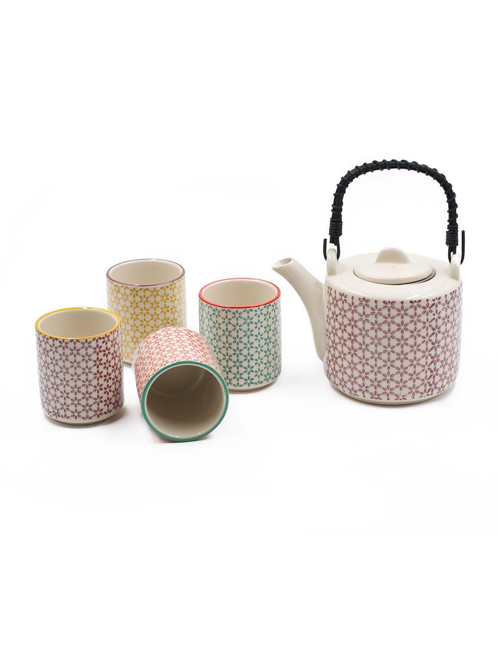 Set da tè Mina in stile vintage - La Pianta del Tè Shop online