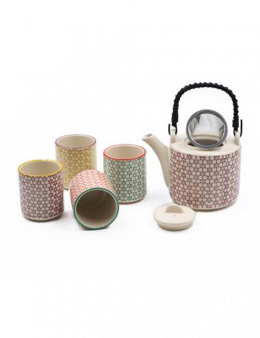 Set da tè mina teiera + 4 ciotole - La Pianta del Tè vendita online