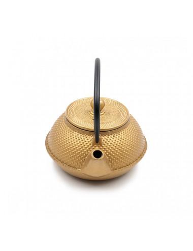 Teiera giapponese in ghisa oro - La Pianta del Tè Vendita online