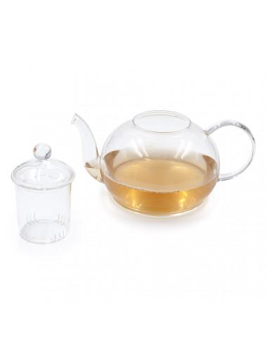 Lu Yu teiera in vetro con pratico filtro in vetro - La Pianta del Tè acquista online