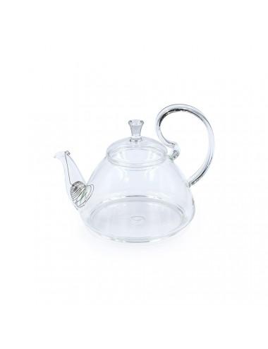 Teiera in vetro con manico ad ansa arricciato - La Pianta del Tè acquista online