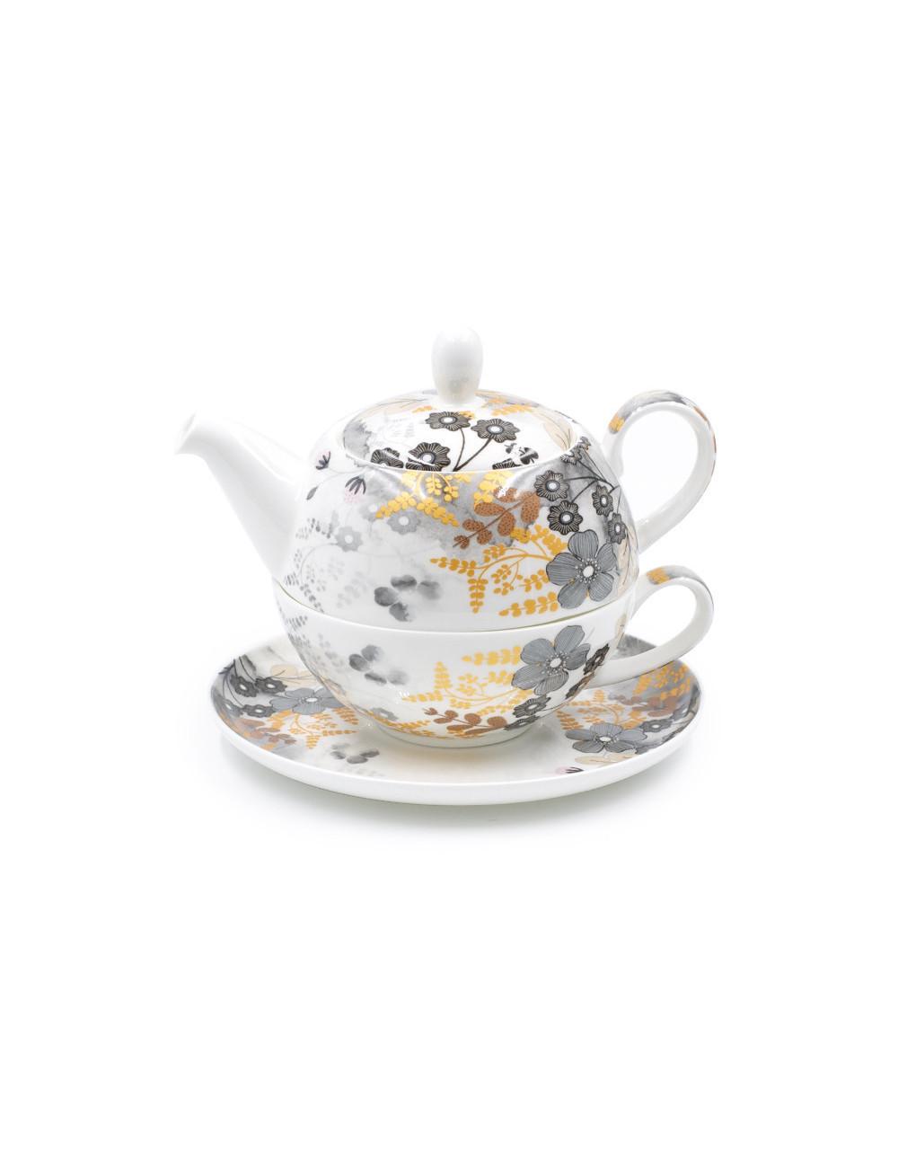 Tea For One Aurora in porcellana Fine Bone China - La Pianta del Tè shop on line