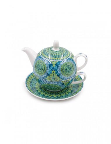 Tea For One Nanji Mandala verde e azzurro - La Pianta del Tè shop online