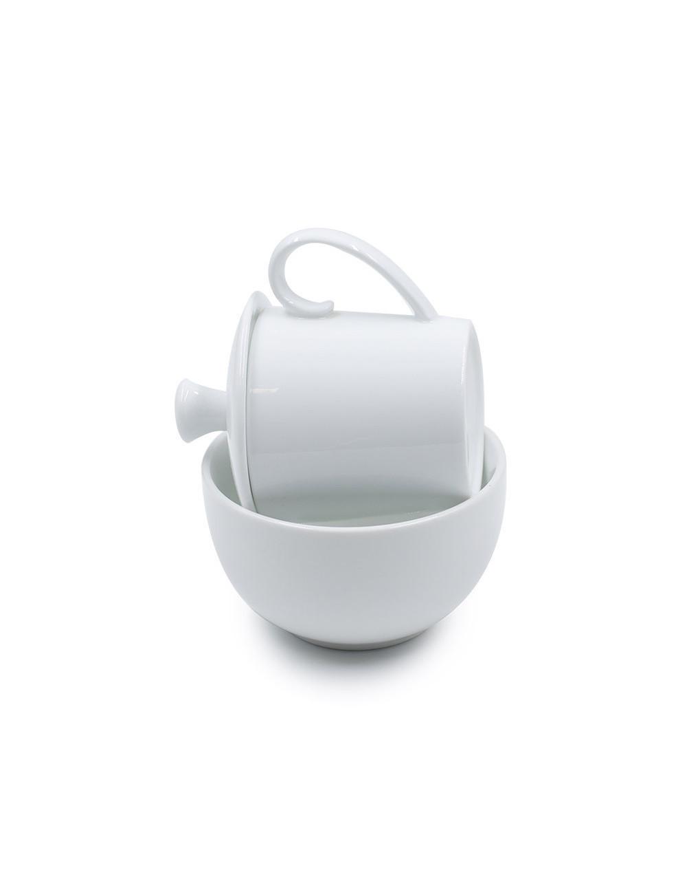 Set Tea Tester in porcellana bianca lucida - La Pianta del Tè shop online
