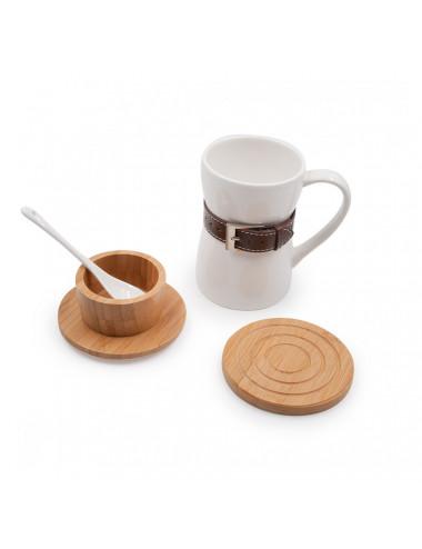 Set Mug Belt in porcellana e bambù - La Pianta del Tè shop online