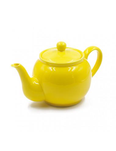 Teiera gialla dalla forma tondeggiante e panciuta - La Pianta del Tè acquista on line
