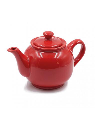 Teiera rossa dalla forma tondeggiante e panciuta - La Pianta del Tè acquista on line