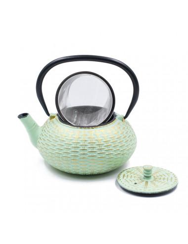 Teiera Tiffany/Oro in ghisa cinese filtro inox - La Pianta del Tè Store online