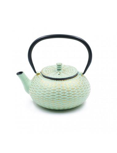Teiera verde Tiffany in ghisa cinese 800 ml - La Pianta del Tè Shop online