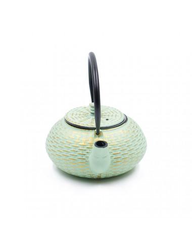 Teiera in ghisa cinese Tiffany/Oro da 800 ml - La Pianta del Tè Vendita on-line