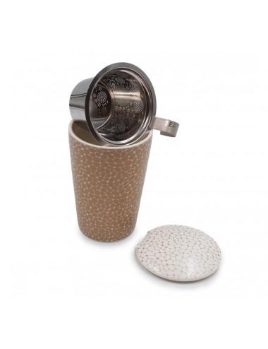 Tisaniera doppia camera con filtro e coperchio salva-roma - La Pianta del Tè acquista on line