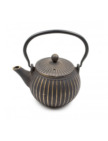 Teiera in ghisa nero/oro - La Pianta del Tè shop online